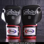 Fairtex Fairtex BGV1 Muay Thai Gloves - Black/White/Red